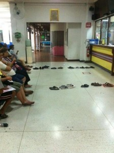 shoes lined up
